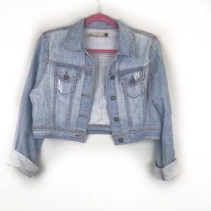 GJG Crop Light Wash Jean Jacket